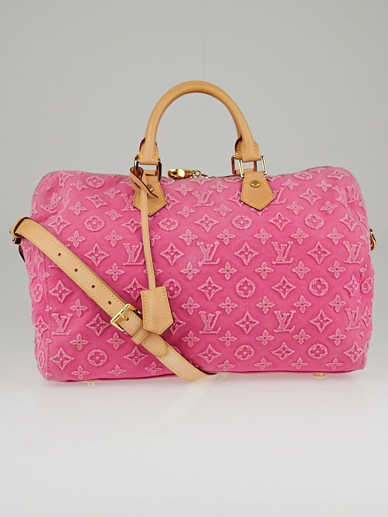 0ae4c49f9379 Louis Vuitton Limited Edition Pink Monogram Stone Speedy Bandouliere 35 Bag