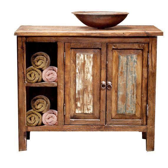 Aparador rustico de madera baños Pinterest Aparadores