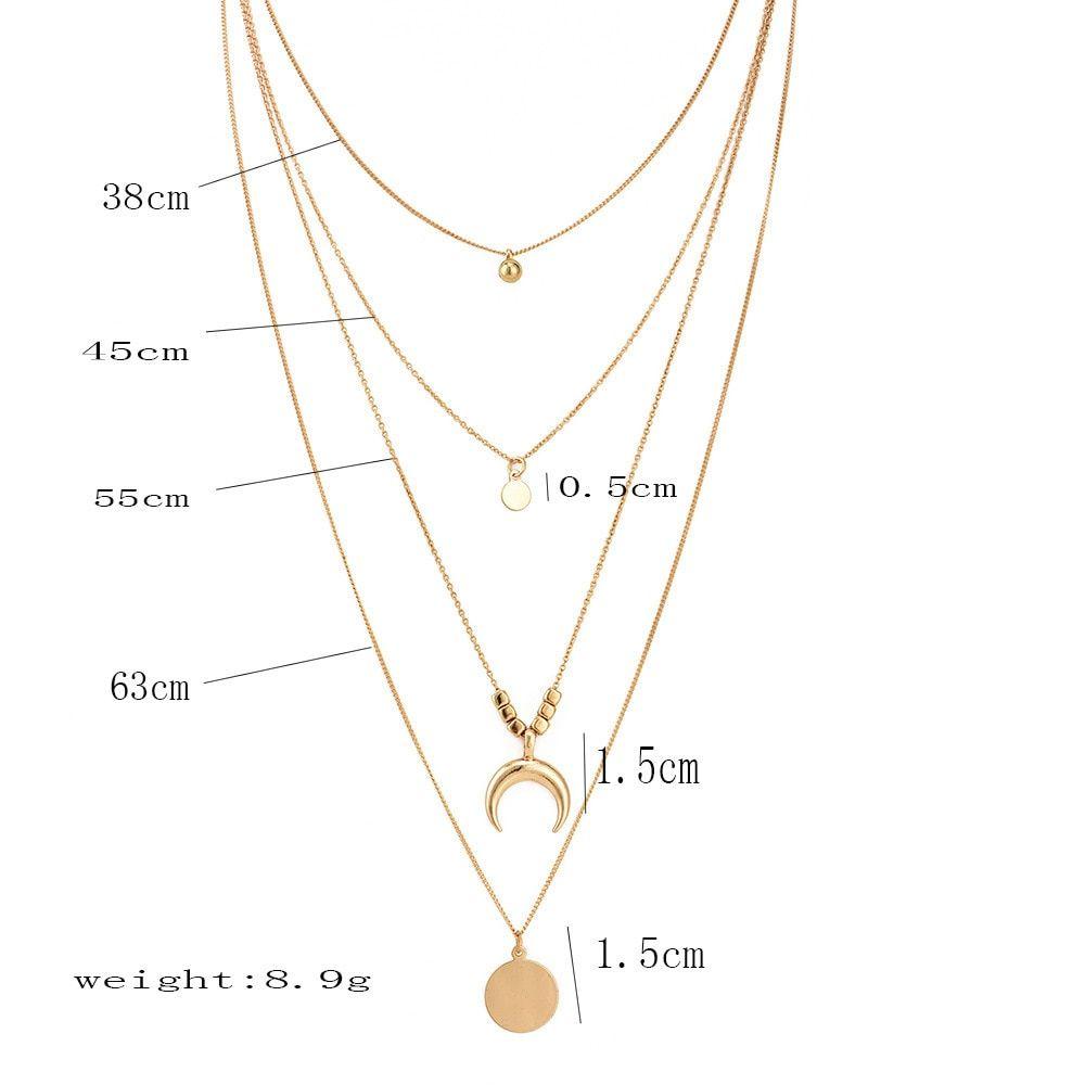 3073bfa75f1 Gold color Choker Necklace for women Long moon Tassel Pendant Chain  Necklaces   Pendants Laces velvet chokers Fashion Jewelry