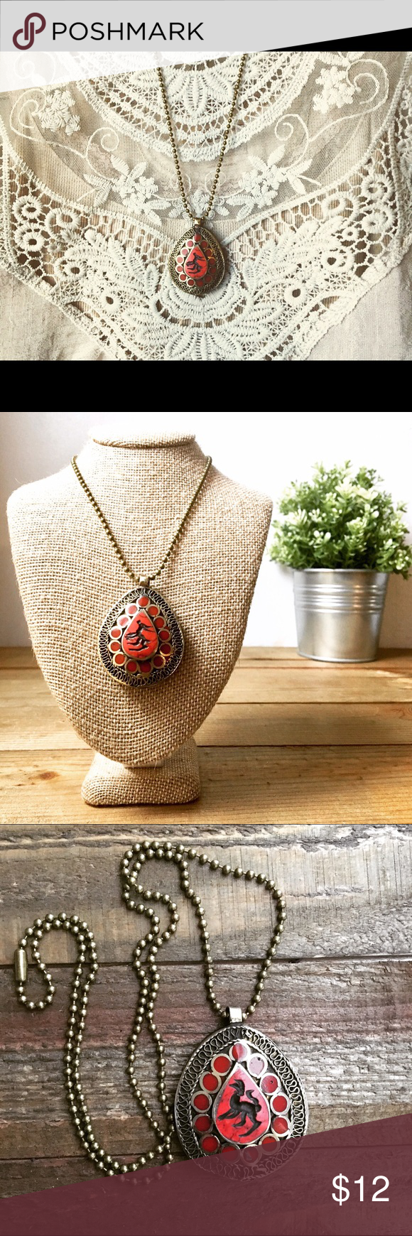 Final price boho tribal kuchi pendant necklace a reclaimed kuchi final price boho tribal kuchi pendant necklace a reclaimed kuchi style tribal pendant on 25 brass ball chain details reclaimed alpaca silver toned aloadofball Gallery