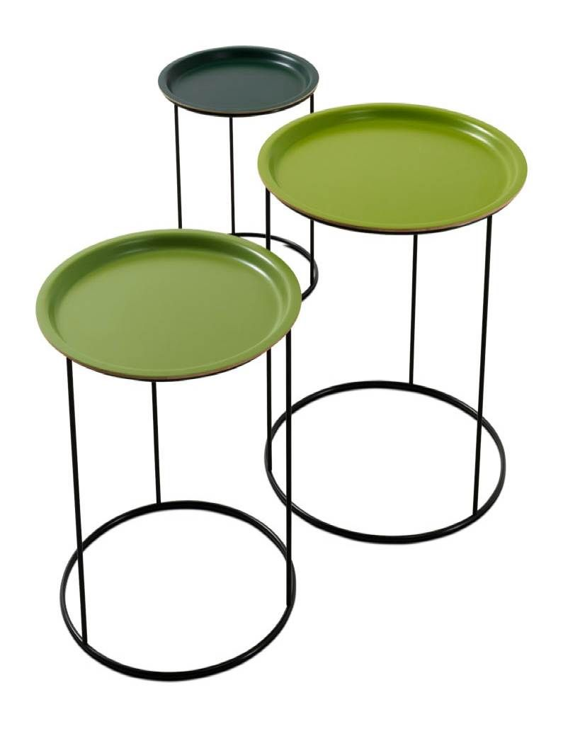 Boconcept nesting tables 3 pcs shades of green lacquermatte stackingnesting snack tables in three tones of green lacquer funner than all white or black or one color occa by boconcept denmark watchthetrailerfo