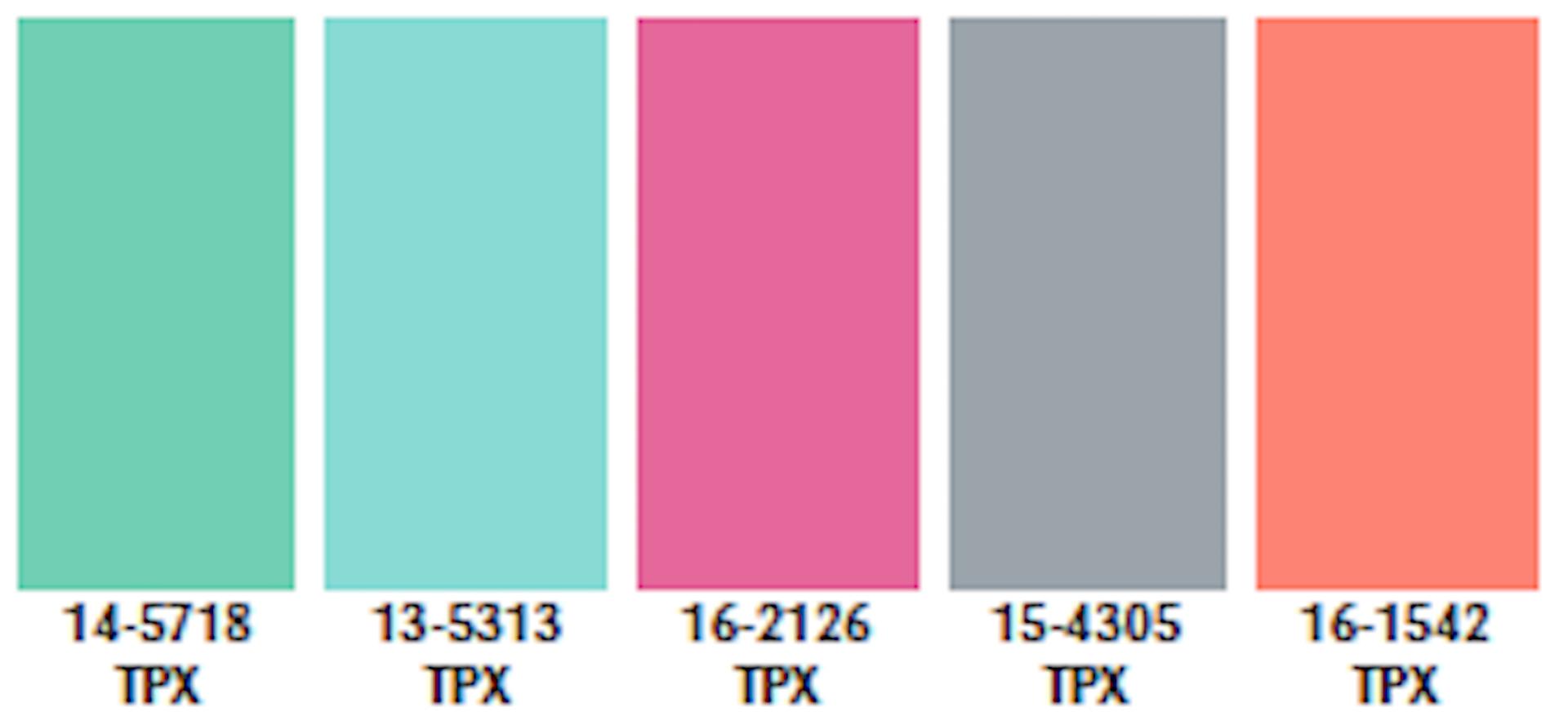 Color Palette Spring/Summer 2021 in 2020 Color trends