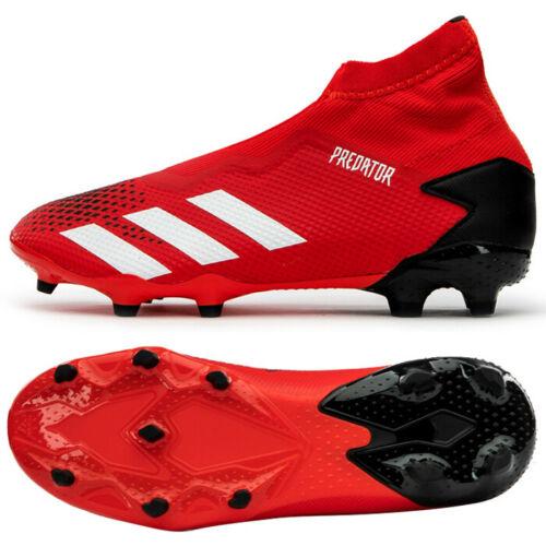 Adidas Predator 20 3 Ll Fg Football Shoes Soccer Cleats Red Ee9554 In 2020 Football Shoes Soccer Outfits Cleats