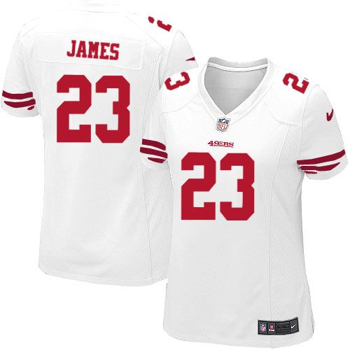 14d20f5dc ... Mens Stitched NFL Elite Jersey Women Nike San Francisco 49ers 23  LaMichael James Limited White NFL Jersey Sale ...