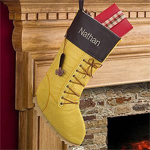 Work Boot • COOL STOCKING •  Personalized Stocking - Christmas Gifts - Christmas Gifts