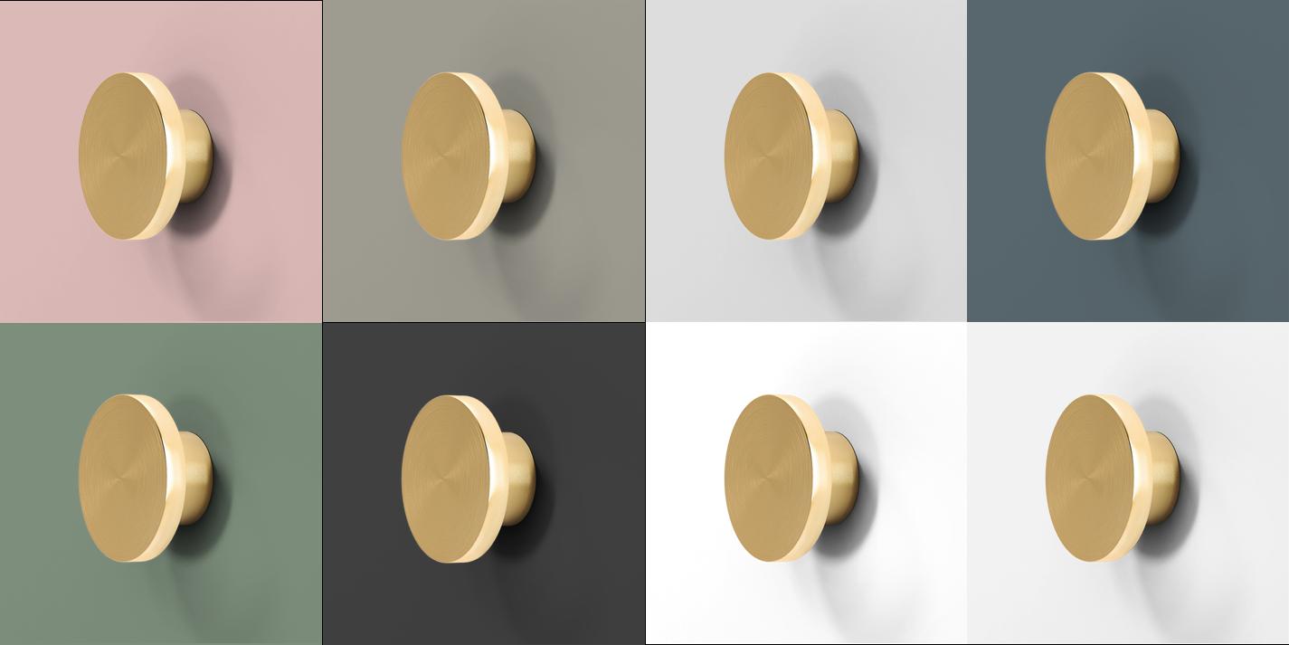 Colour palette for a s helsingö doors brass parasol handles