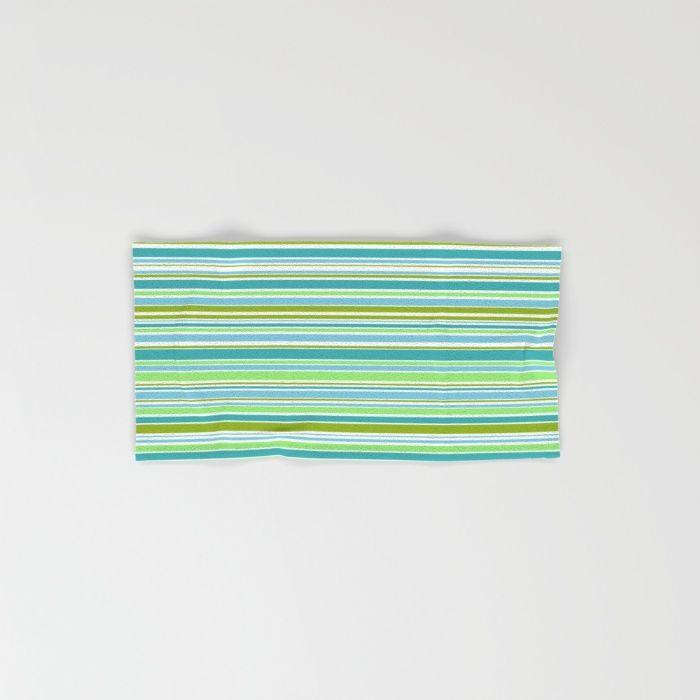 Candy Stripe 1 Hand & Bath Towel #towel #stripes #green #sage #teal #handtowel #bathtowel #bathtowel #bathroom #homefurnishing
