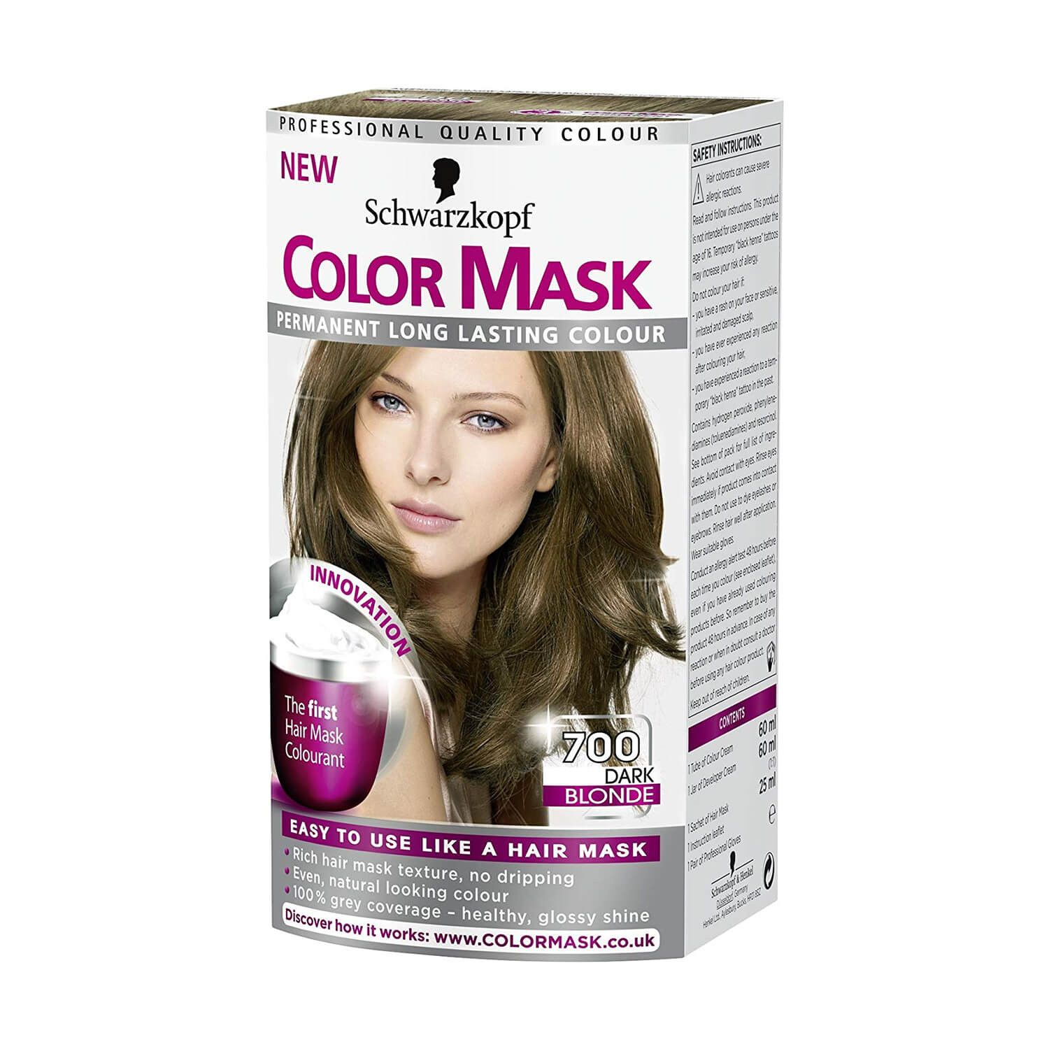 Schwarzkopf Colour Mask 700 Dark Blonde Hair Dye Dyed Blonde