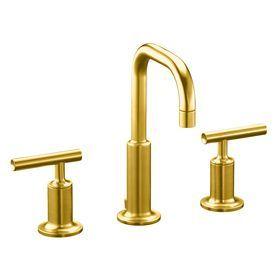Kohler Purist Vibrant Modern Brushed Gold 1 Handle Single Hole