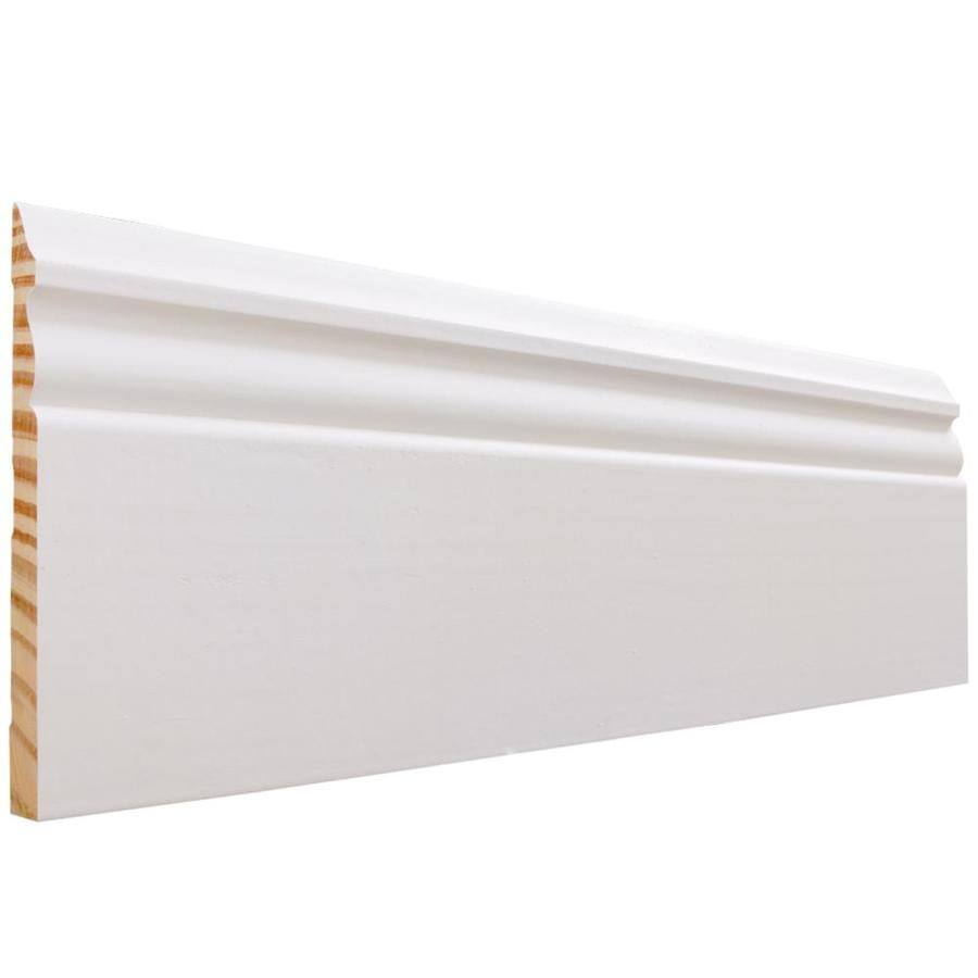 5 1 4 In X 8 Ft Painted Baseboard Moulding Actual 5 25 In X 8 Ft L51808fjpwh In 2020 Baseboards Wood Baseboard Painting Baseboards