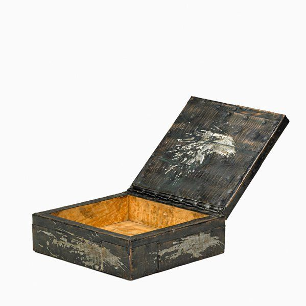 Paul Evans; Patinated Copper, Bronze, Pewter, Wood, Cork and Felt Box for Directional, 1970s.