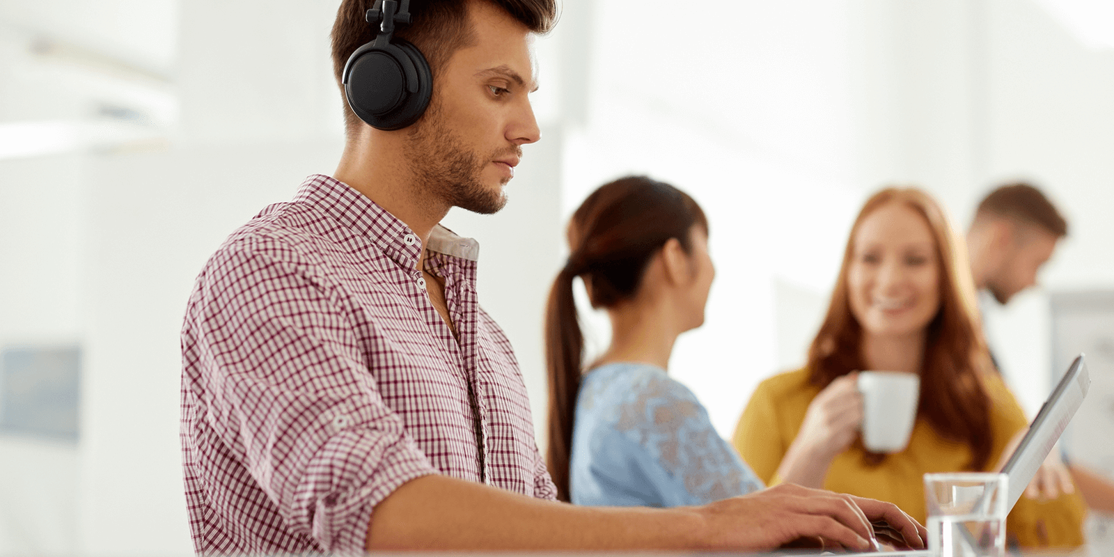 Surprising Results About Wearing Headphones at Work and Productivity | Work productivity, How to wear, Productivity