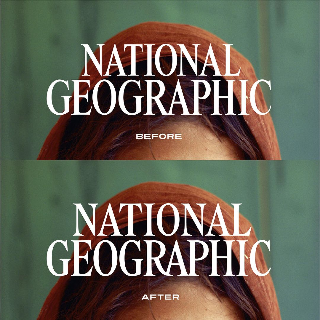 Logo redesign for National Geographic by Godfrey Dadich