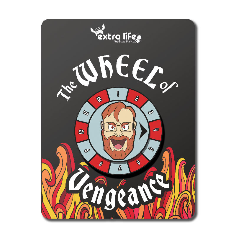 Extra Life Wheel Of Vengeance Spinner Pin Life Wheel Branding Shop Children S Miracle Network Hospitals