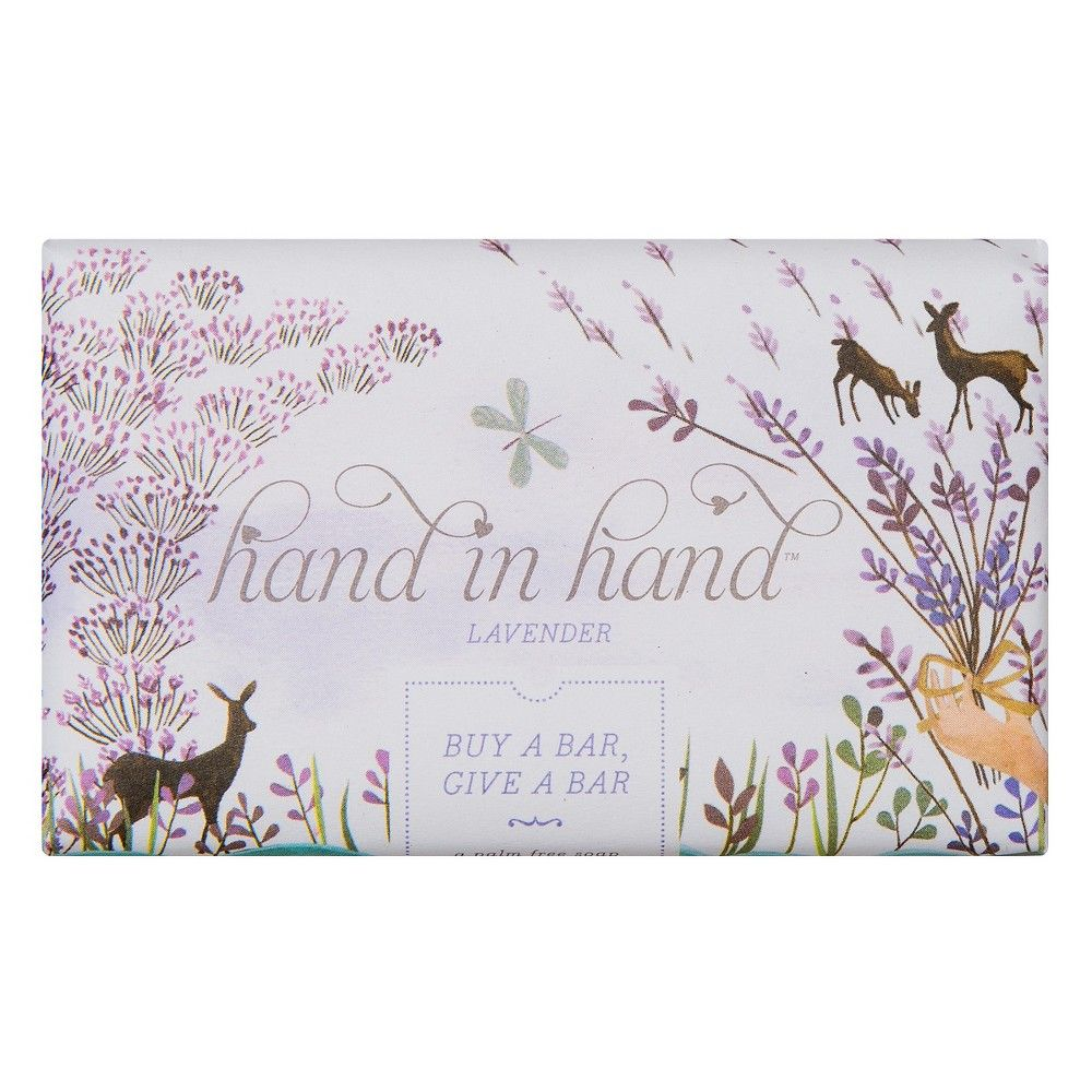 Hand in Hand Lavender Palm Free Bar Soap 5 oz