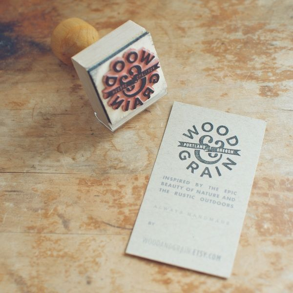 Business Card Logo Kraft Paper Stamp Washi Tape