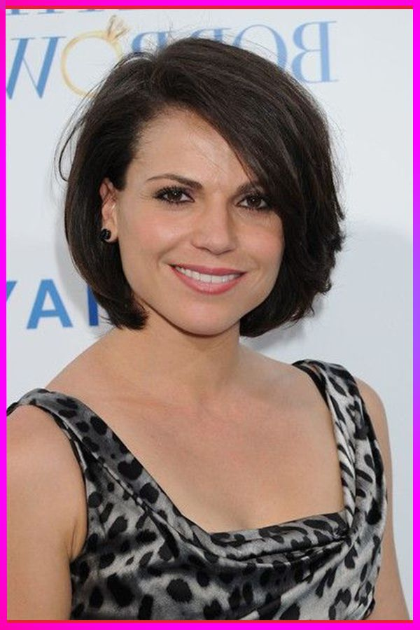cute short bob black hairstyles for round face 2020