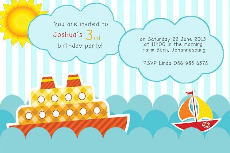Creative Birthday Invitation Card For Boy Cardpedia Com