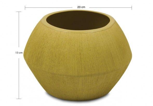 avandeo-Carapace Blumenkübel – Keramik - Olive