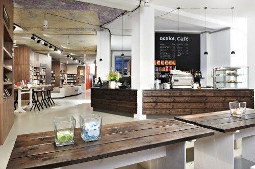 cafe-in bookstore interior design idea | store display | Cafe ...