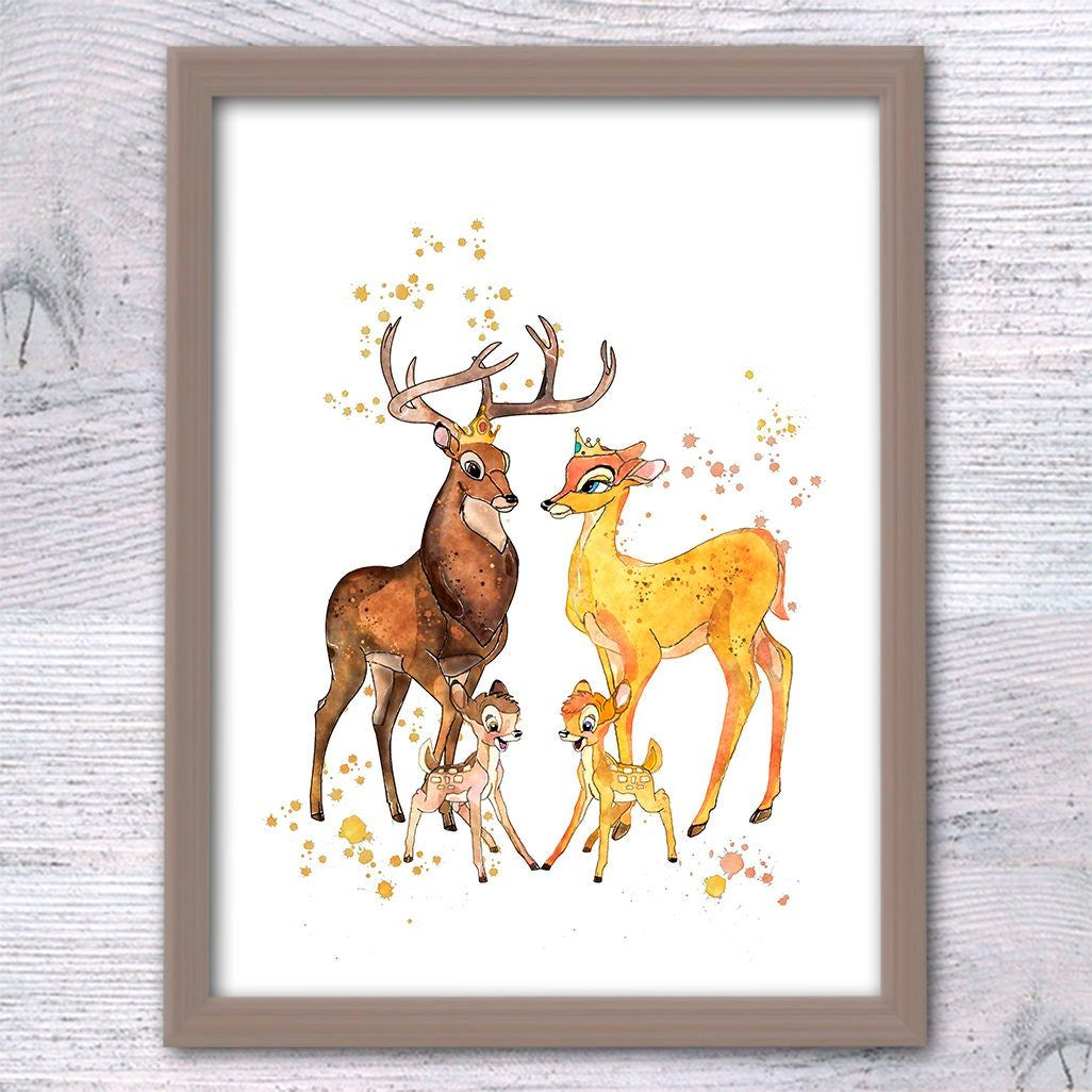 Bambi bedroom print wall art Doe gift poster picture Disney quote