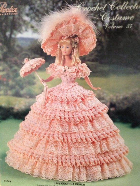 Barbie 1848 Georgia Peach Crochet Kit #AnniesAttic | BARBIE ...