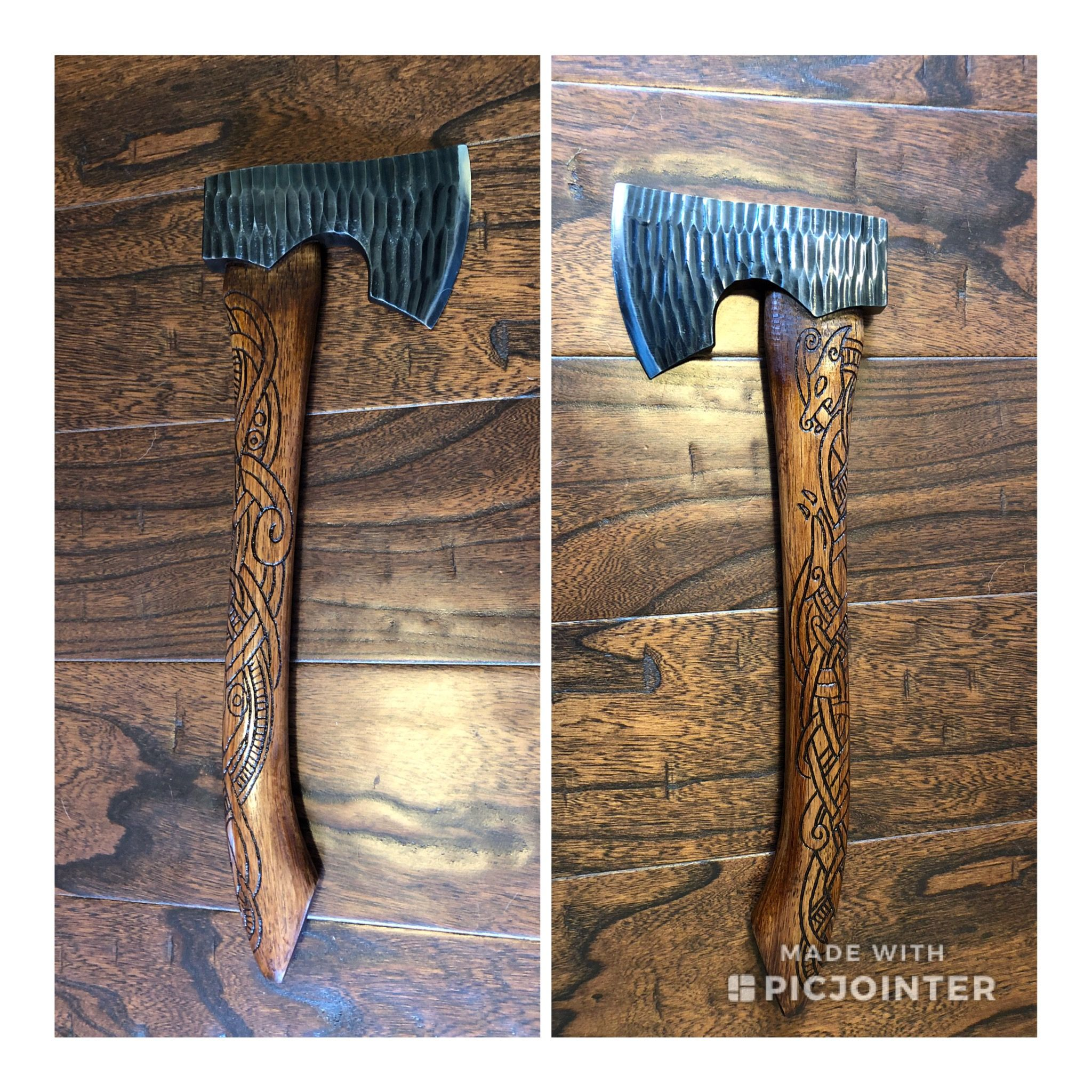 Custom axe by Valkyrie Customs on Etsy | Viking camp, Axe ...