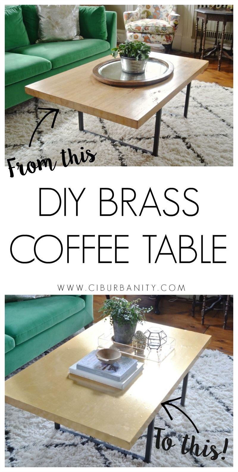 DIY Brass Coffee Table | Craft, Funky junk and DIY tutorial
