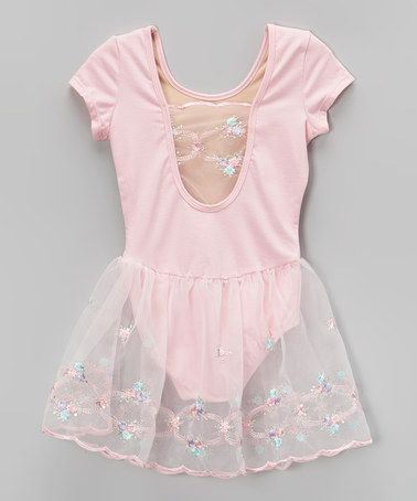 05ed7fa22 This Pink Embroidered Skirted Leotard - Toddler   Girls is perfect ...