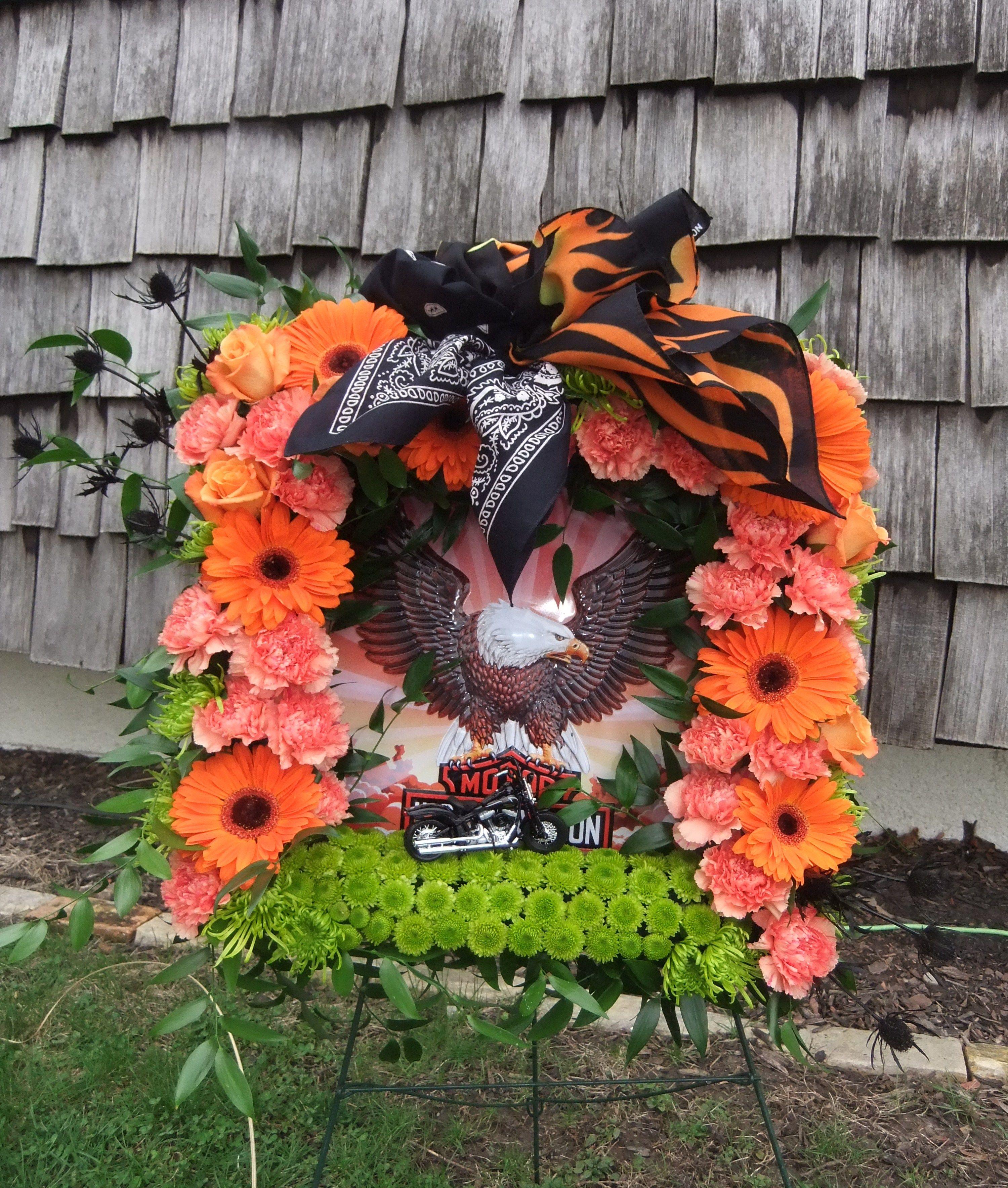 Harley Love Square Wreath Frame Harley Davidson Stuff Was Supplied