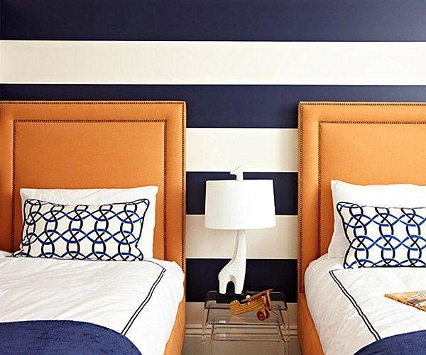Maritimes Schlafzimmer ~ Maritimes schlafzimmer mit bett in braum Федина комната