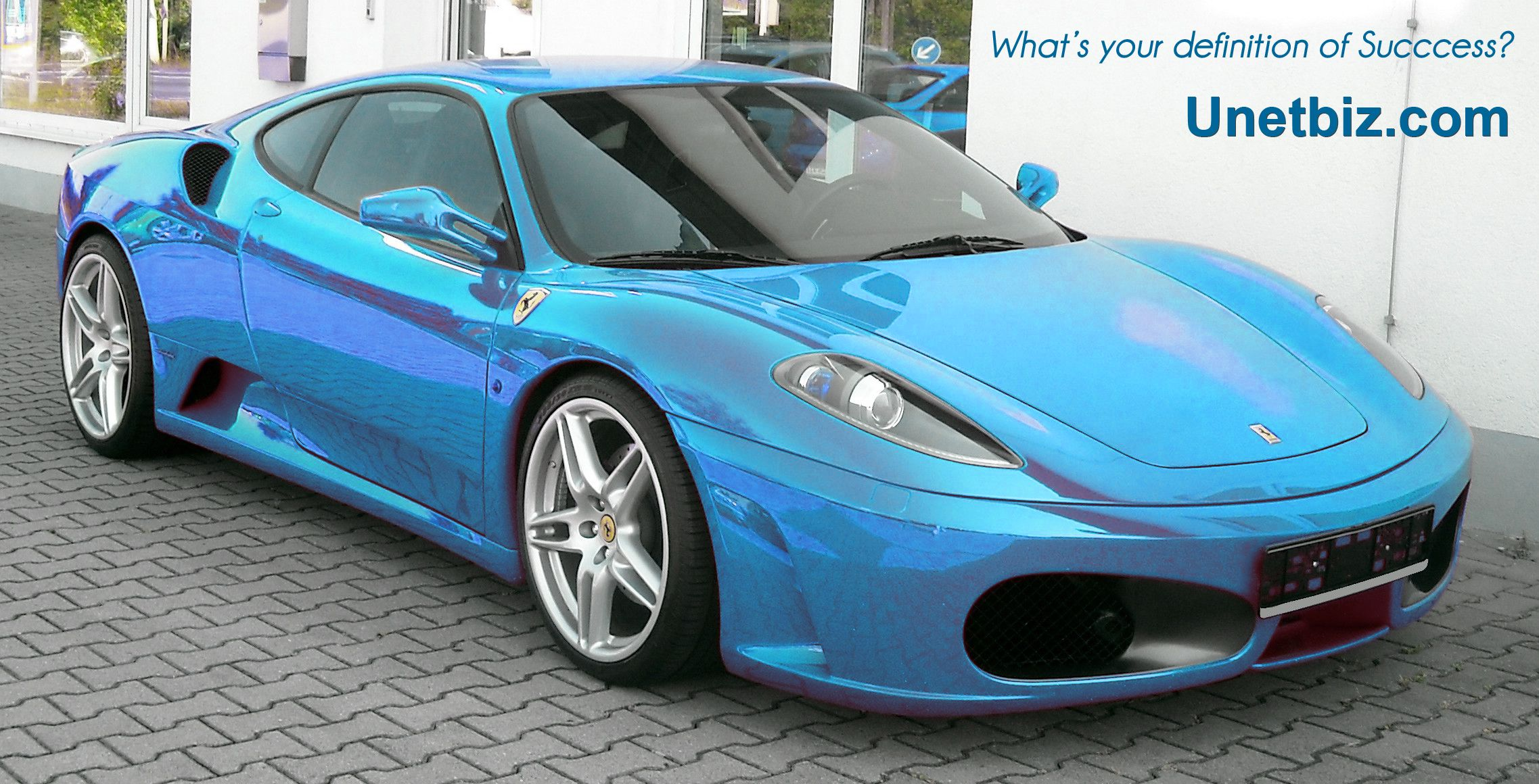 www.unetbiz.com - turn your passion into a business. Tags: Internet Business course, Internet Marketing, SIngapore, Jakarta, Blue Ferrari Sports Car