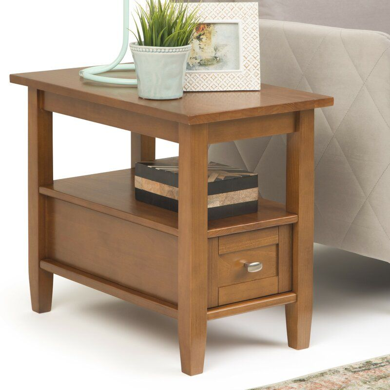 Alameda Solid Wood End Table with Storage Solid wood
