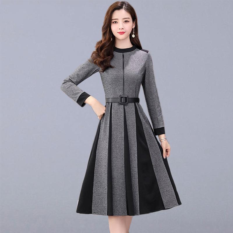 Buy Fleepmart Autumn Casual Long Dress Women New Fashion Korean Style Long Sleeve Elegant A Line L Women Long Dresses Party Dresses For Women Long Dress Casual