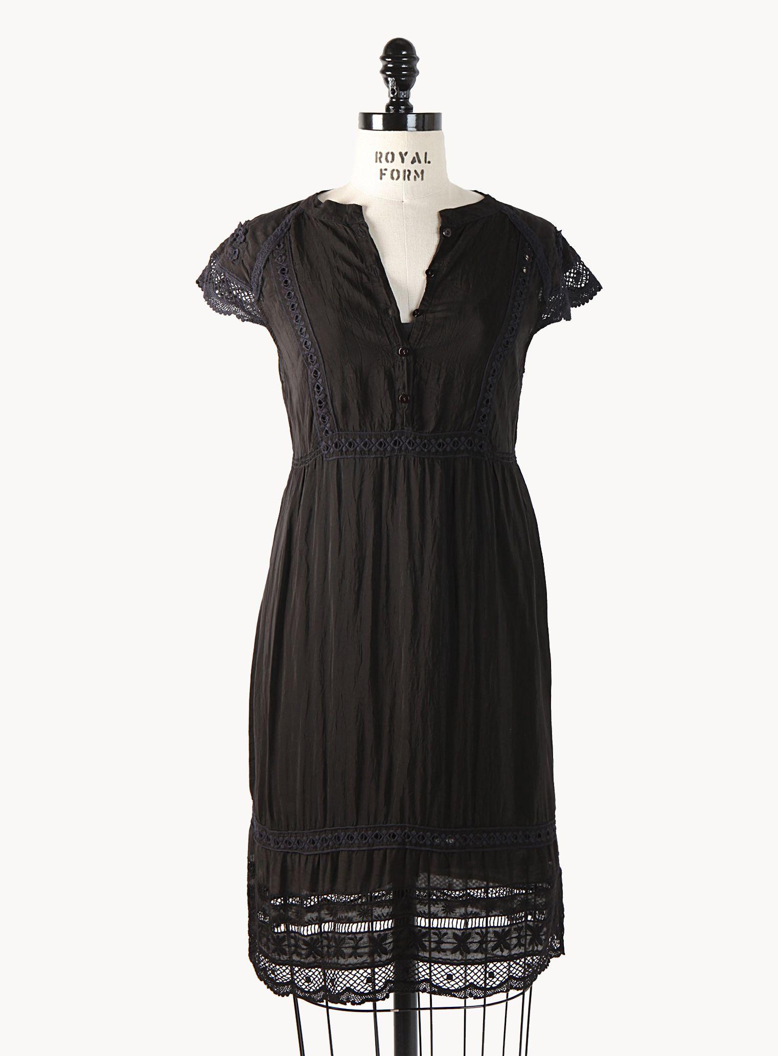 Baby Doll Tie Dress (w/slip)