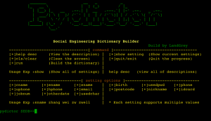 pydictor is a python script for dictionary builder brute