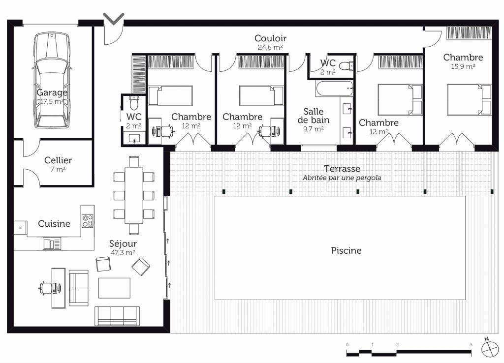Logiciel Gratuit Pour Faire Des Plans De Maison Logiciel Gratuit Dessin Maison Luxe Faire Plan Maison Plan In 2020 L Shaped House Plans House Plans House Floor Plans