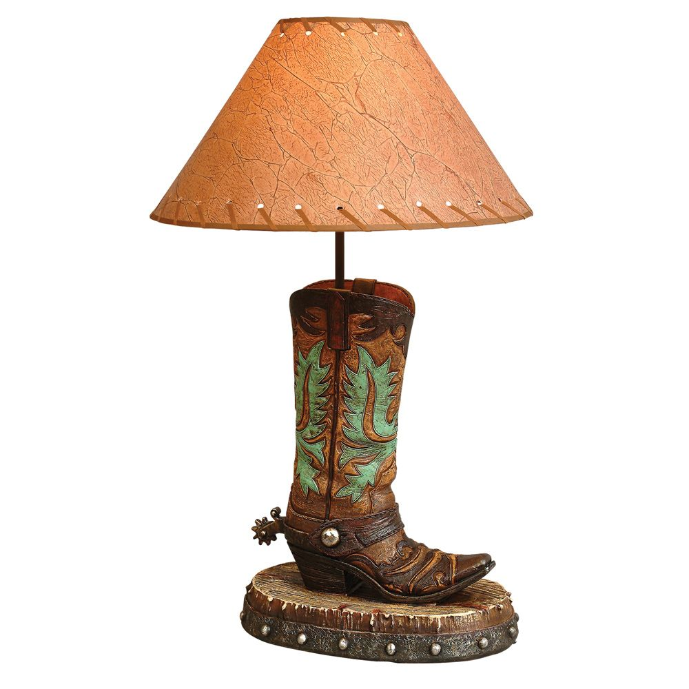 Turquoise Boot Lamp With Images Rustic Lamps Western Lamps Lamp