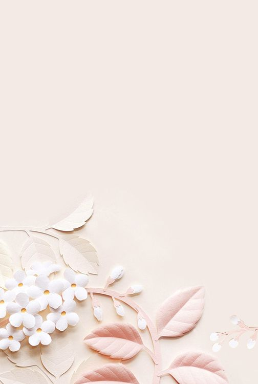Pastel Paper Flowers Background Bunga Ungu Lukisan Bunga Bunga Cat Air