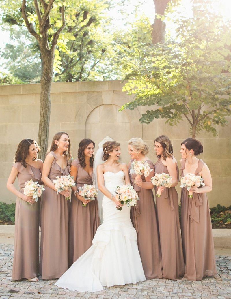 Mocha Colored Bridesmaid Dresses Ficts