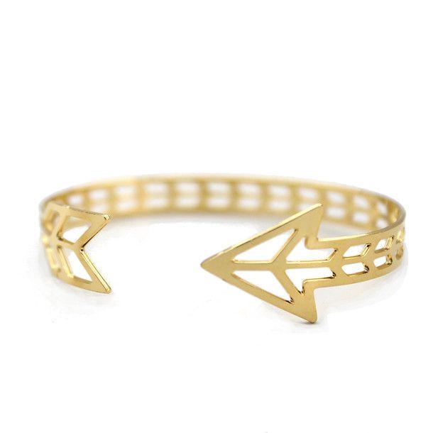 Gold Arrow Cuff