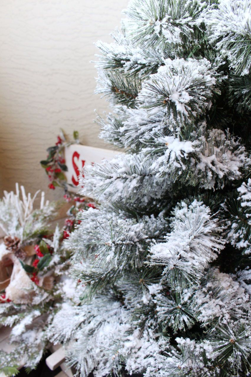 How to Flock a Christmas Tree {and other greenery