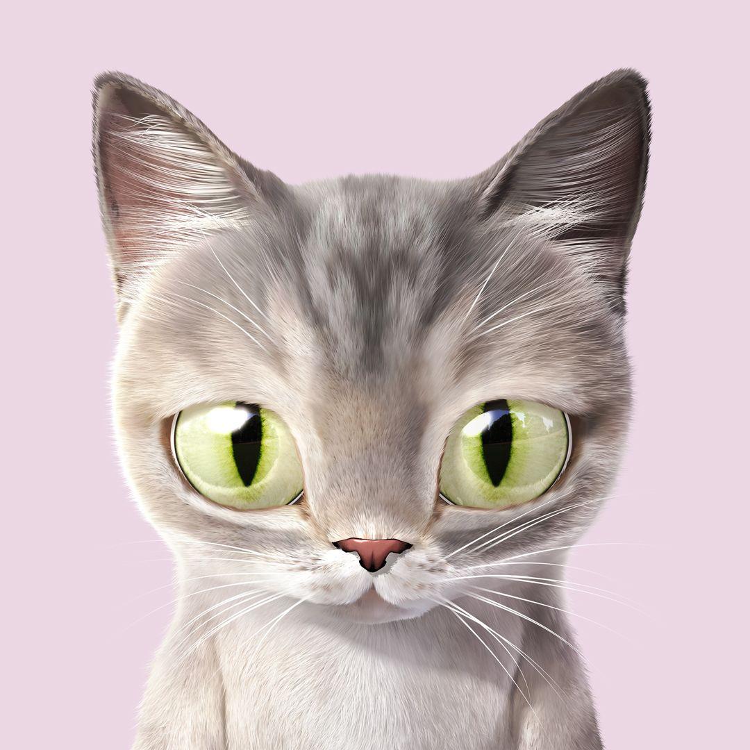 Sugar Cat Candy Doggie Portrait On Behance Cats Illustration