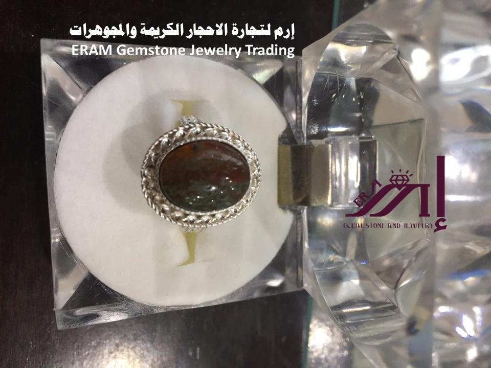 خاتم عقيق يمني نسائي دوادي فقعات طبيعي 100 Agate Gemstone Jewelry Gemstones Jewelry