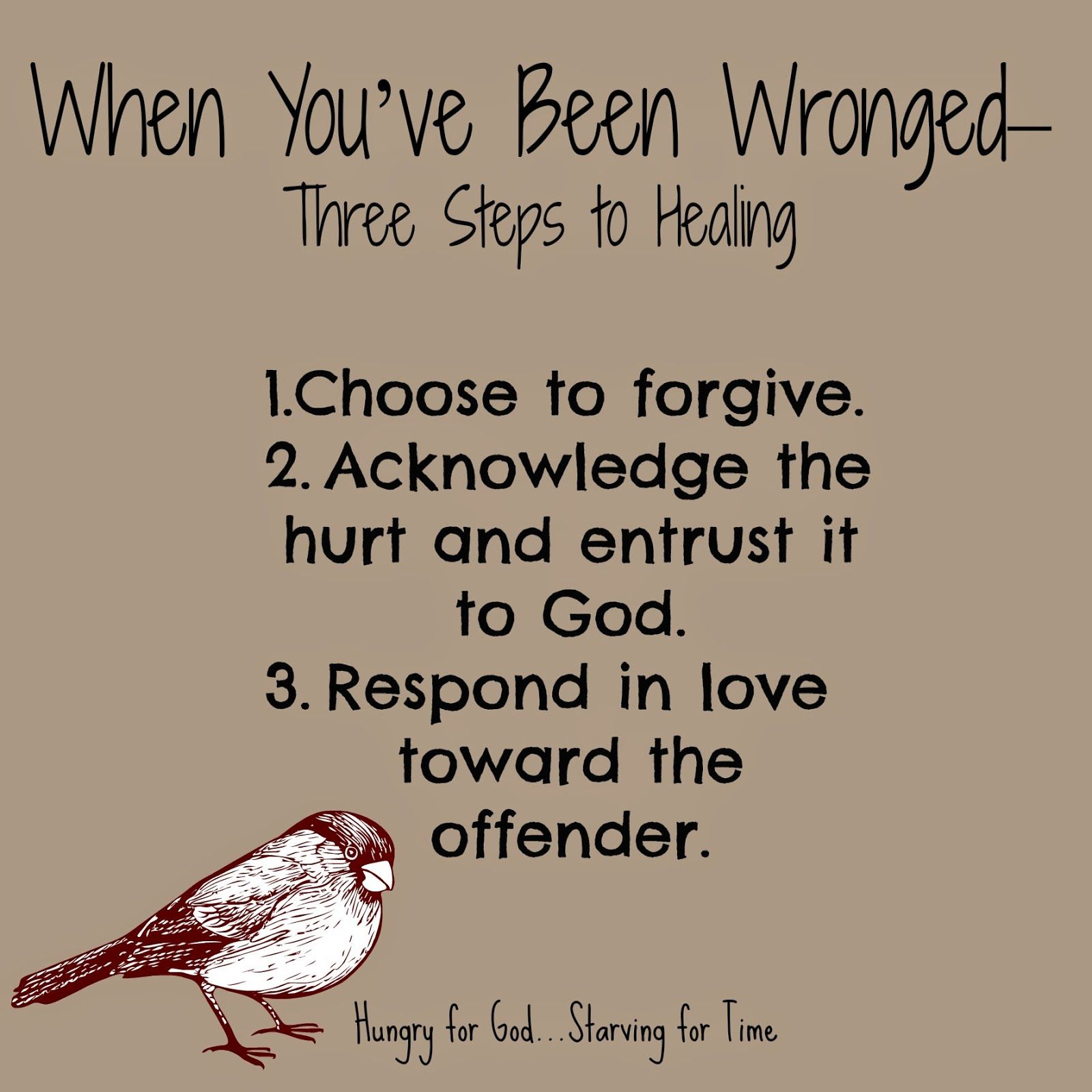 When Weu0027ve Been Hurt, Sometimes Weu0027re Able To Extend Forgiveness Because