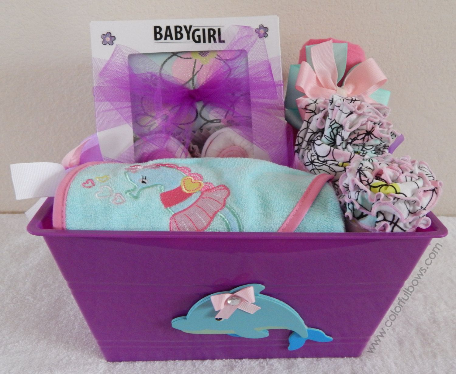 Mermaid Gift Ideas Under The Sea Baby Shower Premium Gift Basket Sea Baby