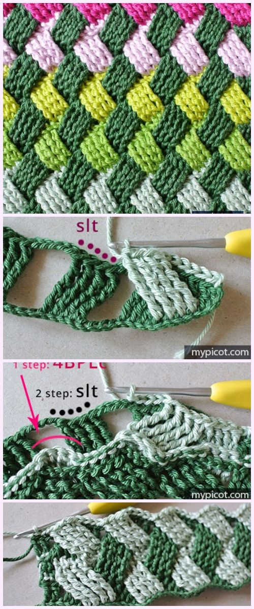 Crochet Basket Weave Stitch Free Crochet Pattern | Crochet ...
