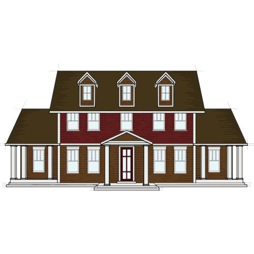 Best James Hardie Chestnut Brown Accent Countrylane Red Trim 640 x 480