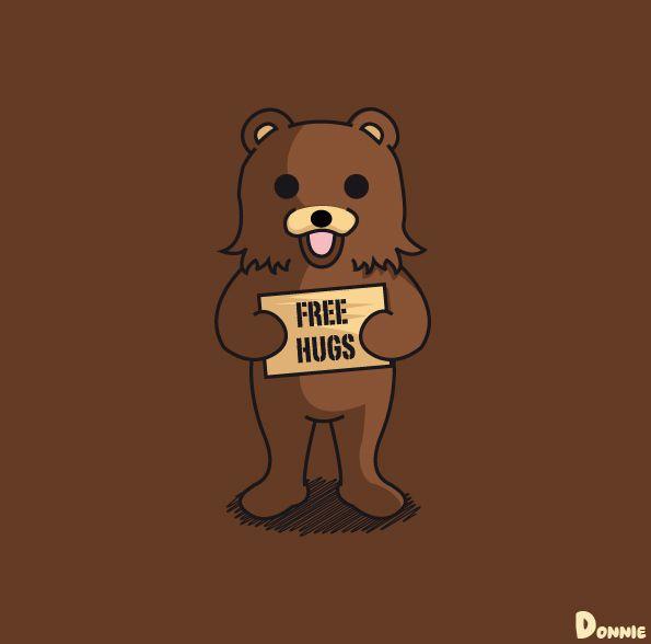 Pedobear Parody On Behance Free Hugs Bear Wallpaper Art Sketches