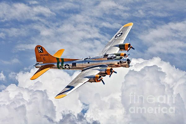 An HDR B-17G Photograph  - An HDR B-17G Fine Art Print